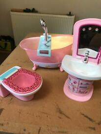 Baby Born toilet, sink and bath.