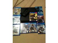 Slim ps4 1tb and 9 great games