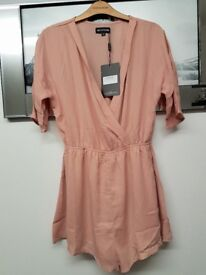 Nude wrap playsuit
