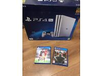 4K 1TB White PS4 Pro with Fifa and COD Latest Top of range PS4