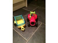 Elc happyland tractor and trailer - used