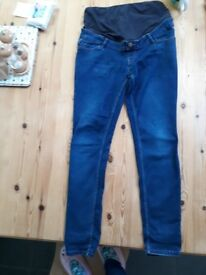 Maternity skinny jeans overbump newlook size 12 plus bump band