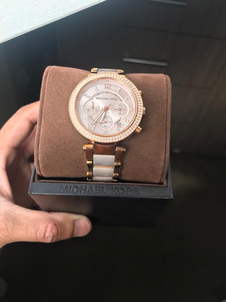 dfa75858cf7b ladies michael kors parker chronograph watch mk5896
