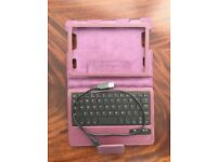 Leather 8inch tablet case with bluetooth keyboard
