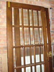 Glazed double interior doors