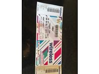 2 tickets for wireless festival Sunday July 9 2017