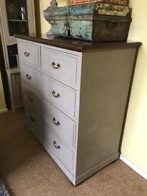 Up Cycled Antique Victorian Large Chest of Drawers (Can Deliver)