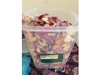 Hand dried petals