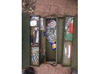 Metal army tool box