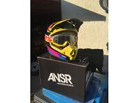 ANSR Motocross Helmet with Goggles size L 59 -60