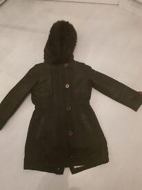 girls black ted baker jacket Age 10