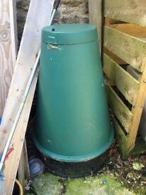 Food digester, compost bin.