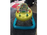 Baby walker good conditions washable seat cover