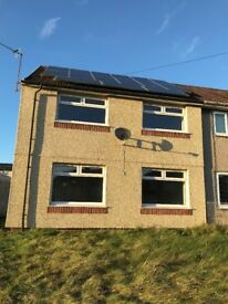 TO RENT £575 pcm UNFURNISHED 3 BEDROOMED SEMI DETACHED HOUSE HEOL ANEURIN PENYRHEOL CAERPHILLY