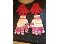 2-6 Years (estimate) Girls - Gloves (Hand span 6cm)