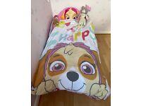Paw Patrol Toddler girls Bed With Storage + Fibre Mattress Children's Cot-bed