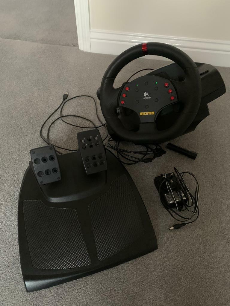 Logitech Momo Steering Wheel Pedals In Aylesbury Buckinghamshire Gumtree