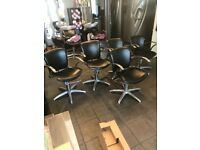 5 salon chairs for sale