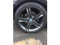 BMW 1 Series alloys Style 208M Genuine M Sport 3 series 120d 123d 130i rims