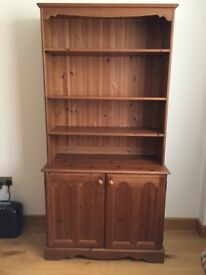 Book case with cabinet.