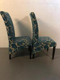 Dining Chair x 2 damask fabric