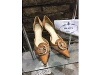 Prada, Size 5 Heels, Very Good, PreUsed Condition