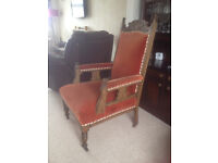 Edwardian parlour set (2 armchairs 4 dining/bedroom/dressing table chairs)