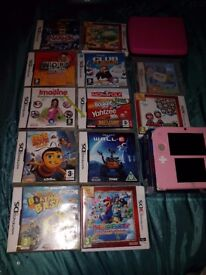 2ds pink brill condition got the box aswell charger styles and 13 games collection only chesterton