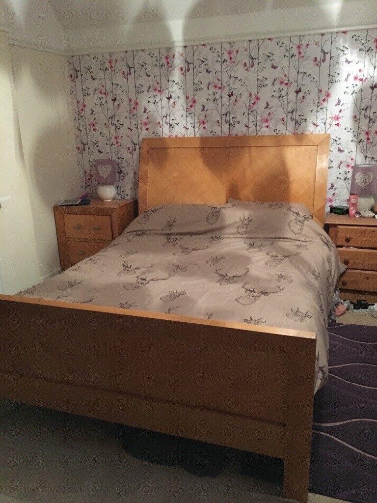 Solid Oak King Size Sleigh Bed In Norwich Norfolk Gumtree