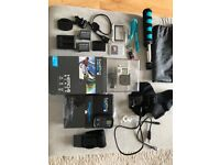 GoPro Hero 4 Black with Remote and £200 of extras