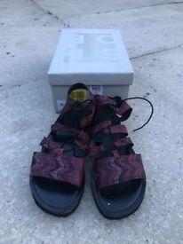 Womens Shoes Size 6 Vero Moda Burgundy Lace Up Platform Sandals