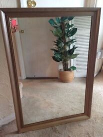 GOLD DISTRESSED TARNISHED EFFECT FRAME WALL MIRROR