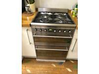 Smeg Dual Fuel Double Oven Cooker Gas Hob Fan Oven