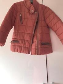 Girls biker jacket with hood