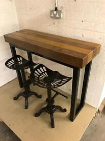 Breakfast bar/cast iron stools/Industrial/Rustic/Reclaimed/kitchen/Home/Furniture/powder coating