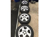 Alloys wheels chrome bling 5x100pcd vw Audi will fit others