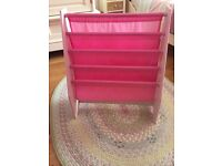 Disney Princess pink sling Bookcase.Holds about 20 books.