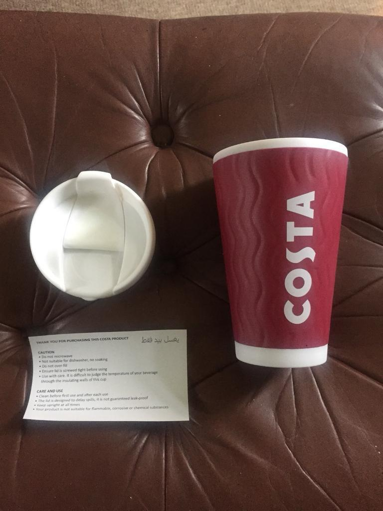 Costa Coffee Ripple Travel Mug Tumbler Cup Insulated Thermal Double Wall 450ml In Norwich Norfolk Gumtree