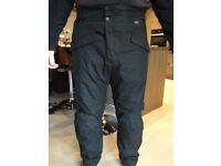 JTS Motorcycle Trousers Textile Black knee protection lined no signs of wear