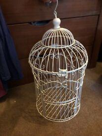 Vintage white birdcage/wedding accessory