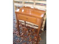 Singer sewing machine cabinet table, vintage laptop table, c. 1950