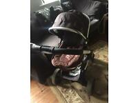 Icandy peach coal pram