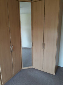 Fitted wardrobes. Excellent condition.