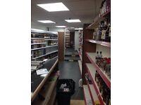 Offlicene shop Mansfield town