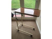 Overbed Table with Castors - excellent condition