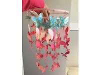 Girls bedroom ceiling lampshades