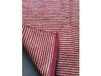 STUDIO ONE Striped red rug great condition 86cm x 154cm