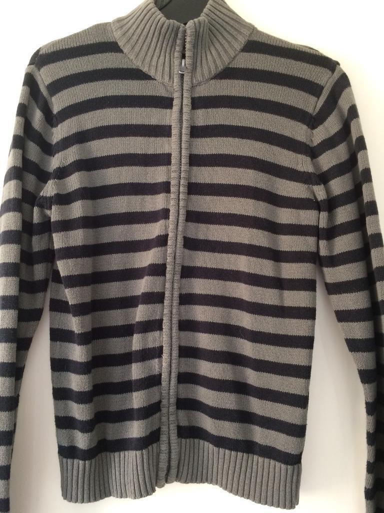 30889fcd53e Boys La Redoute grey black zip up cotton jacket age 12