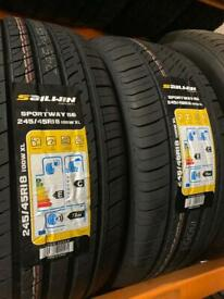 245/45/18 245 45 18 100W XL BRAND NEW TYRE SAILWIN PAIR OF 2 TYRES FITTED BALANCED £120