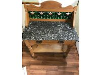 Marble topped, washstand